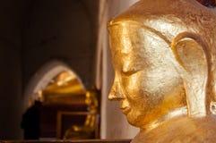 Buddha stawia czoło złocistą statuy stronę Obrazy Stock
