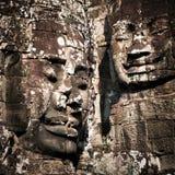 Buddha stawia czo?o Bayon ?wi?tynia przy Angkor Wat Kambod?a Obrazy Royalty Free