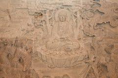 Buddha-Steinschnitzen stockfotos