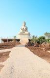 buddha sten thailand arkivfoton