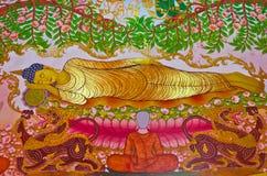 Buddha-sterbender Moment Lizenzfreie Stockfotos