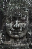 Buddha Stone Face At Bayon Temple Stock Photos
