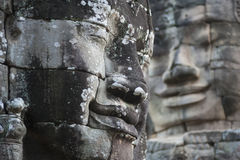 Buddha Stone Faces At Bayon Temple Royalty Free Stock Photos