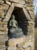 Buddha: stone stupa niche royalty free stock photo