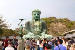 buddha stora kamakura Arkivfoton