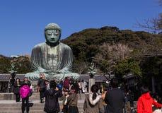 buddha stora kamakura Arkivfoto