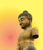 Buddha on stupa background Stock Photography