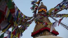 Buddha Stupa i Katmandu, Nepal Resor stock video