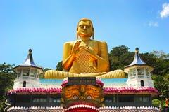 Buddha stupa, Sri Lanka. View of Golden Temple in Badulla, Sri Lanka Royalty Free Stock Photo