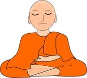 Buddha su un fondo bianco fotografia stock
