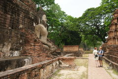 Buddha in Sukhothai Thailand. Sukhothai historical park, The old town of Thailand stock photography