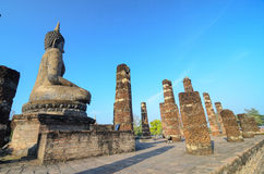 Buddha, sukhothai Thailand. Buddha sukhothai, Thailand.  Landmark big statue Buddha in temple ruins of wat so chum in northern Thailand Royalty Free Stock Photo