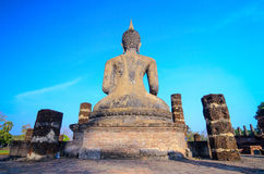 Buddha, sukhothai Thailand. Buddha sukhothai, Thailand.  Landmark big statue Buddha in temple ruins of wat so chum in northern Thailand Stock Images