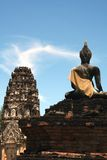 buddha sukhothaitempel Royaltyfria Foton