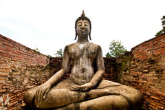 Buddha in sukothai Thailand Royalty Free Stock Photo