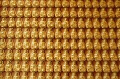 Buddha sulla parete Immagine Stock