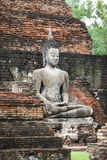 Buddha sulle rovine Immagine Stock