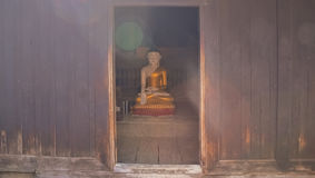 Buddha sun glare Royalty Free Stock Photography