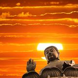 Buddha at sunset Royalty Free Stock Photography