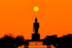 Buddha in the sunset Royalty Free Stock Images