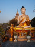 Buddha in sunset view Stock Images