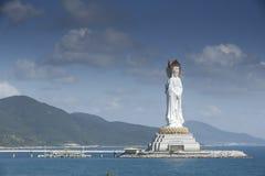 Buddha sydkinesiska havet, Sanya, Hainan royaltyfri bild
