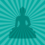 buddha sylwetka Obraz Stock