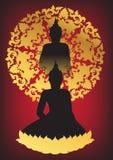 Buddha sylwetki wektor royalty ilustracja