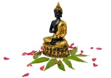 Buddha-Symbol des Friedens lizenzfreie stockbilder
