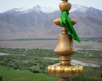 A Buddha symbol at temple in Ladakh, India Stock Photography