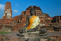 Buddha Symbol in Wat Maha That, Thailand Royalty Free Stock Photography