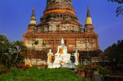 Buddha Symbol, Watyaichaimongkol, Thailand Royalty Free Stock Images