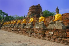 buddha symbolu Thailand watyaichaimongkol Zdjęcia Stock