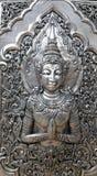 Buddha szczegóły, Srebna świątynia, Chiang Mai Obrazy Stock