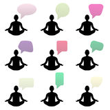 Buddha talks empty bubbles fot your text eps10 Royalty Free Stock Photo