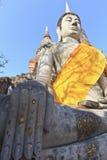 Buddha tempel av Wat Yai Chai Royaltyfria Foton