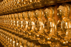 Buddha-Tempelwand in Wat-Leng-Noei-Yi Stockfotografie