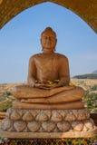 Buddha in tempiale immagini stock libere da diritti