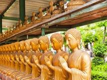 Buddha in tempiale della Tailandia Fotografie Stock
