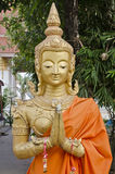 Buddha in tempiale di Thatluang Fotografia Stock Libera da Diritti