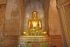 Buddha in tempio di Bagan immagini stock