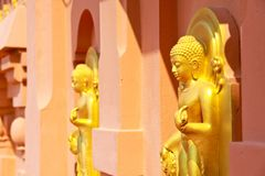Buddha in the Temple Royalty Free Stock Images
