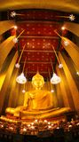 Buddha. In Temple Royalty Free Stock Photos