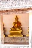 Buddha in  Temple  at Ayuttaya Stock Image