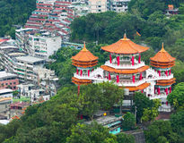 Buddha temple in The Chung Cheng Park. Keelung, Taiwan Stock Image