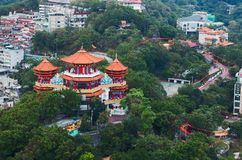 Buddha temple in The Chung Cheng Park. Keelung, Taiwan Royalty Free Stock Photo