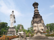 Buddha temple culture in thailand Stock Images