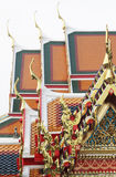 Buddha temple roof top decoration Royalty Free Stock Photography