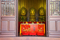 Buddha Temple in Shanghai China stock photos
