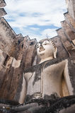 Buddha in temple of Sukhothai ancient city. Stock Photos